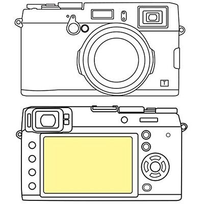 Martin Screen Protectors Fields Overlay Plus Screen Protector (FujiFilm X100T)