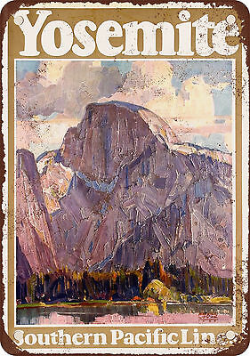 """7"""" x 10"""" Metal Sign - 1926 Southern Pacific Railroad to Yosemite - Vintage Look"""