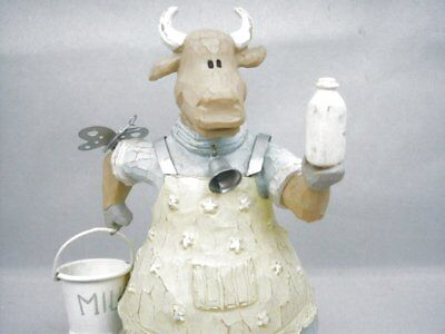 2003 Funky Farm Collection HELEN THE HEIFER Cow Figurine Living Quarters w/ tag