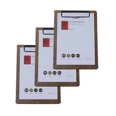 10 x Wooden Menu Board, A5 w/ Top Standard Clip, Restaurant / Wine List / Menues