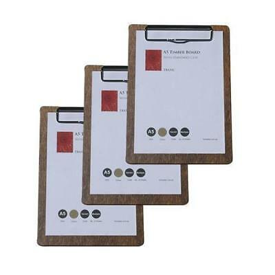 5 x Wooden Menu Board, A5 w/ Top Standard Clip, Restaurant / Wine List / Menues