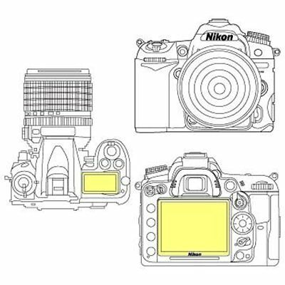 Martin Screen Protectors Fields Overlay Plus Screen Protector (Nikon D7000) Top
