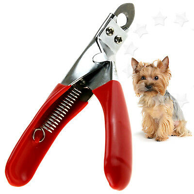 Dog Cat Claw Toe Nail Paw Clipper Trimmer Scissors Cutter Grooming Tool Red