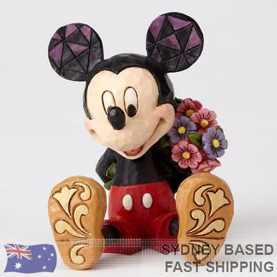 Jim Shore Disney Traditions MINI FIGURINE  Mickey Mouse with Flowers NEW