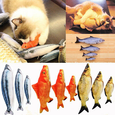 Pet Cat Chewing Toys Kitten Cat Stuffed Fish Catnip Interactive Kitten Product