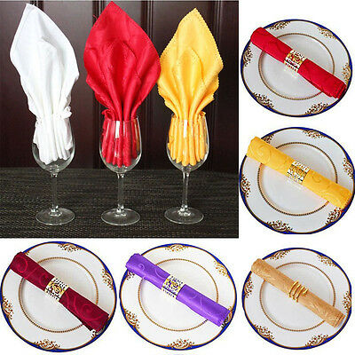"1PC 20""x20"" Cloth Linen Napkins Wedding Restaurant Polyester Napkins Table Decor"