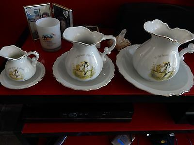 Vintage Holly Hobbie To The House Of A Friend Set Of 3 Jug And Bowl