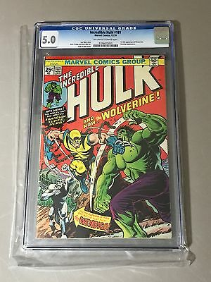 Incredible Hulk #181 CGC 5.0 OW-W Pages Marvel Comics WOLVERINE