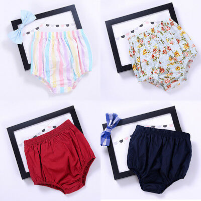 Newborn Baby Girl Bloomers Cotton Diaper Nappy Cover Pants Flower Shorts Bottoms