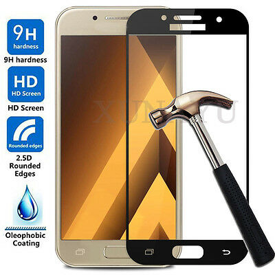 Full Cover Tempered Glass Screen Protector For Samsung Galaxy A3 A5 A7 2016-2017