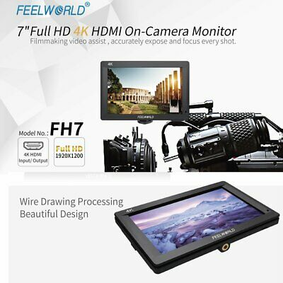 "New Feelworld FH7 7"" Full HD 1920x1200 4K Input / Output HDMI On-camera Monitor"