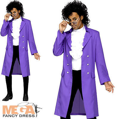 Prince Purple Rain Pop Star Mens Fancy Dress 80s Music Celebrity Adults Costume
