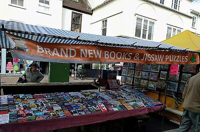 Mobile Van Business: New Books & Jigsaws Market Stall with Toyota Van and Stock