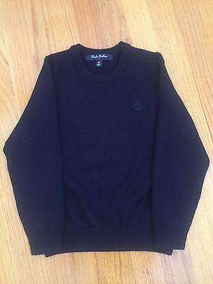 BROOKS BROTHERS Boys Youth Merino Wool Navy Blue Sweater Size XS