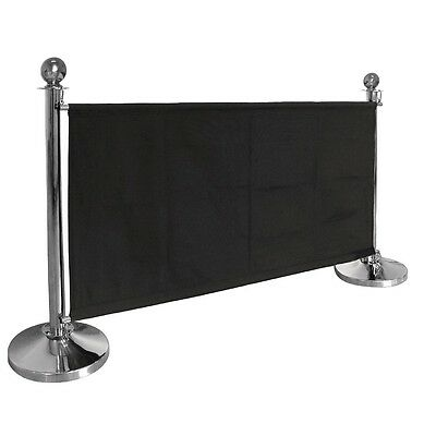 Bolero Black Canvas Barrier Commercial Kitchen Restaurant Cafe Bar Event