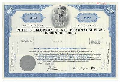 Philips Electronics and Pharmaceutical Industries Corporation Stock Certificate