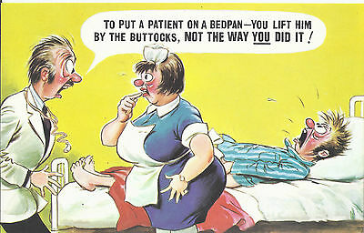 Vintage 1970's Bamforth COMIC Postcard (as new condition) Not that way #571