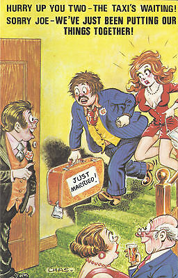 Vintage 1970's Bamforth COMIC Postcard (as new condition) Things Together #559