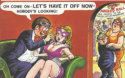 Vintage 1970's Bamforth COMIC Postcard (as new condition) Have it off now #452