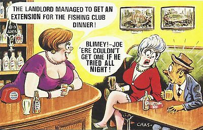 Vintage 1970's Bamforth COMIC Postcard (as new condition) Couldn't get one #542