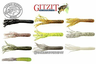 """New Gitzit Fat Gitzit 3.5/"""" Bass Tube in a 35 Piece Kit with weighed hooks 94000"""