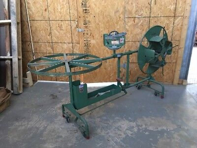 Wemco Commercial Wire Coiler With Weber Model 700 Counter For Large Wire
