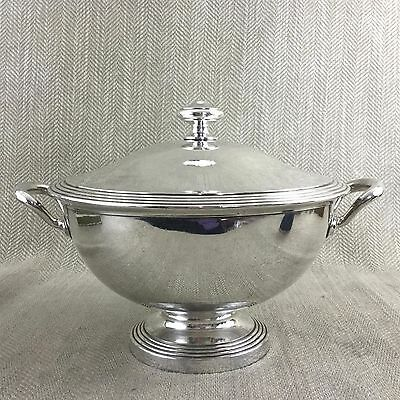 Christofle Silver Plated Tureen Serving Dish Lidded Twin Handled Fidelio Albi