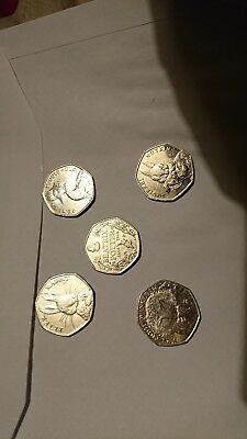 Full collection of Beatrix Potter 50p coins