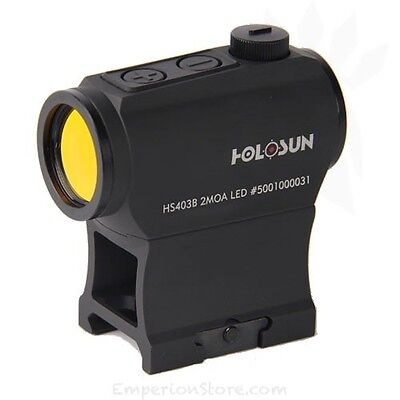 HOLOSUN HS403B Red Dot Motion Sensor / Battery Tray / AR Riser Shooting M4