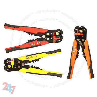 Wire Crimper Automatic Cable Crimping Tool Stripper Self Adjustable Plier Cutter