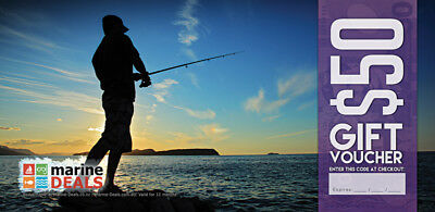New Marine Deals $50 Gift Voucher with Sleeve - Rock Fishing Ships to NZ Only