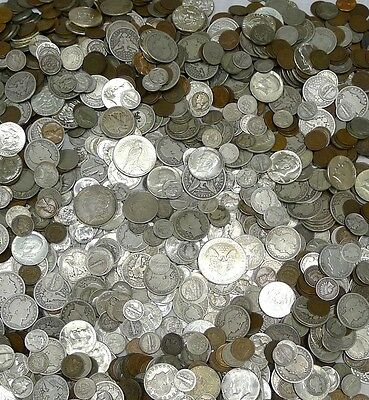 Estate Lot 17 Different Coins! Silver,wwii,civil War,barber,proof,standing Lib.!