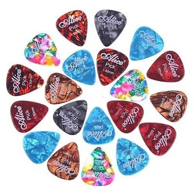 Alice 20x 1.5mm Smooth Colorful Celluloid Guitar Picks Plectrum E3W2