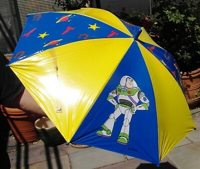 Toy Story BUZZ LIGHTYEAR UMBRELLA child's (Buzz 3D Handle) vintage 1996
