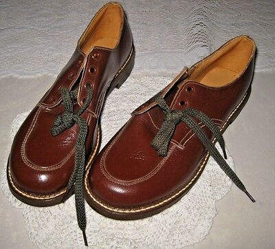 **VINTAGE DAGMAR CHILDREN'S LEATHER BROWN SHOES** Never Used Size 14