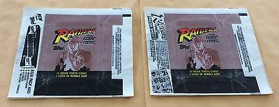 1981 Topps Raiders Of The Lost Ark Trading Cards Lot Of 20 Wax Pack Wrappers