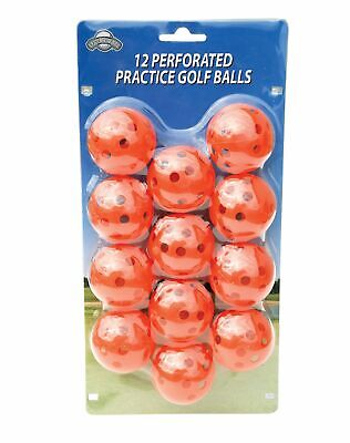 OnCourse Practice Plastic Perforated Golf Balls - 12 Pack - Orange