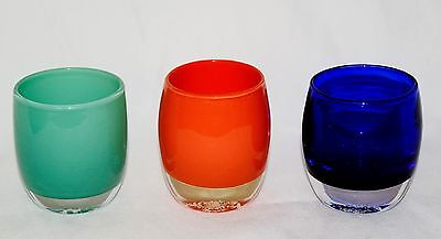 Glassybaby Votive Candle Holder Lot Of 3 Different Candle Holders
