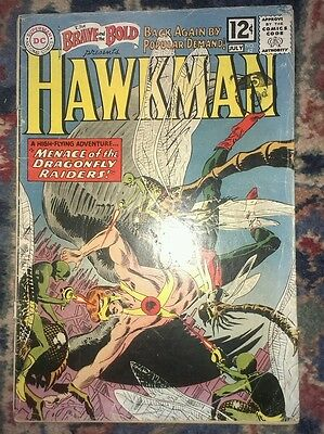 Brave and the bold 42,fourth silver age hawkman appearance key issue from 1962