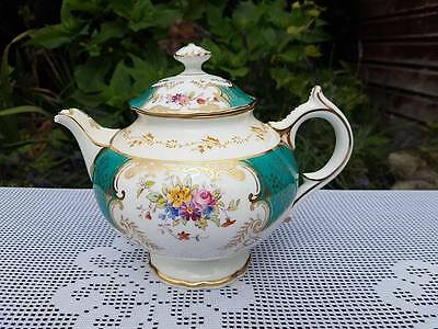 Rare Coalport Batwing Colourways  tea pot