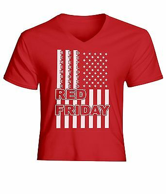 RED Remember Everyone Deployed T-shirt Athletic Slim Fit US Flag Rothco 1182
