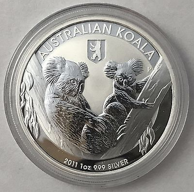 2011 Australian Koala with Berlin Privy 1 oz .999 Silver Bullion Coin