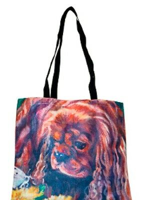 Cavalier King Charles Tapestry Tote Bag Spaniel Free Shipping Ladies Purse Dogs