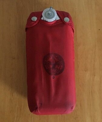 Vintage Boy Scouts Aluminum Canteen W/ Belt Clip & Nylon Cover Official BSA