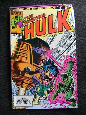 Incredible Hulk vol 1 no 290 (December 1983) - V Good cond - bagged,  boarded.
