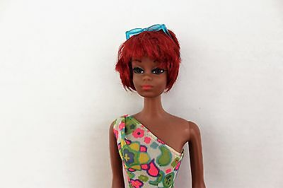 1119 Christie Doll Twist N' Turn 1970 wearing Patio Party #1692 Paisley Jumpsuit