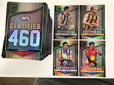 AFL SELECT 2017 CERTIFIED 460 individual cards TAKE YOUR PICK ALL TEAMS
