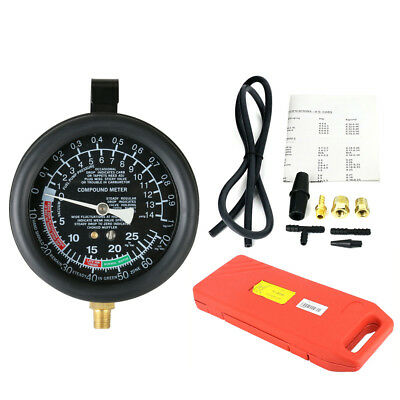 TU-1 Fuel Pump Vacuum Tester Gauge Leak Carburetor Pressure Diagnostics + Case