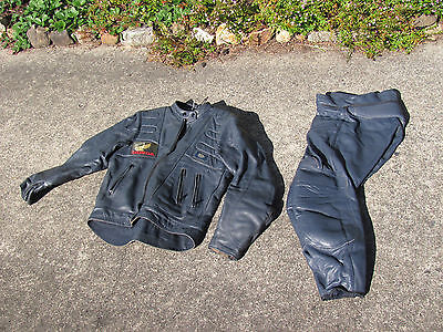 Retro Mens Leathers  Motor bike DBT brand. Size 5  Hand made in Australia