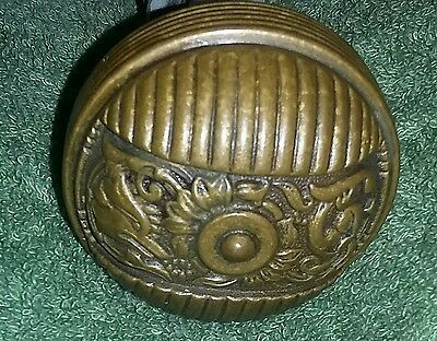 Antique Victorian Steampunk Bronze Metal Doorknobs Fox Architecture Columbian